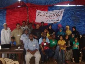 متطوعي المنظمة وفرحة مابعد نجاح المشاريع